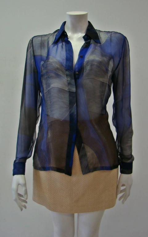 Rare Gianni Versace Couture Silk Printed Shirt 2