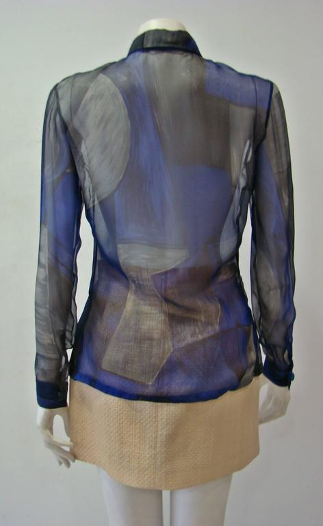 Women's Rare Gianni Versace Couture Silk Printed Shirt For Sale