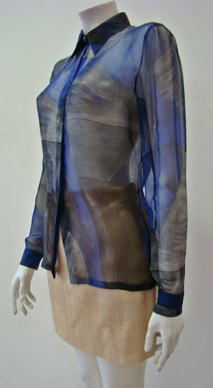 Rare Gianni Versace Couture Silk Printed Shirt In Good Condition For Sale In Athens, GR