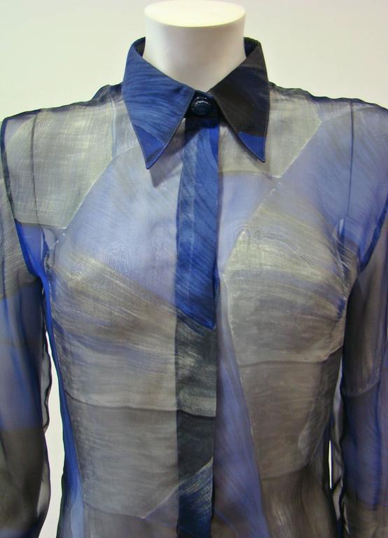 Rare Gianni Versace Couture Silk Printed Shirt 3