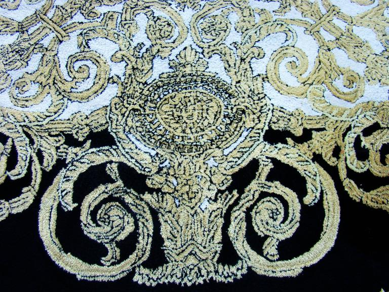 Unique Atelier Versace Hand Tufted Rug From Baroque With Medusa Design  3