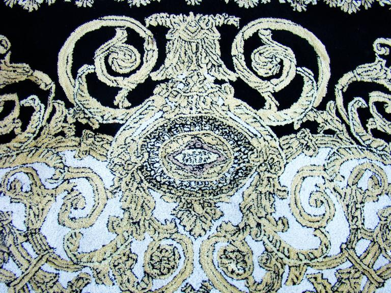 Unique Atelier Versace Hand Tufted Rug From Baroque With Medusa Design  5
