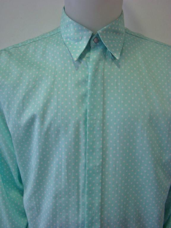Gianni Versace Polka Dot Shirt Spring 1994 In New never worn Condition For Sale In Athens, GR