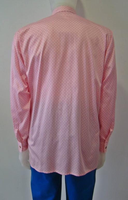 Gianni Versace Polka Dot Shirt Punk Collection Spring 1994 In New never worn Condition For Sale In Athens, GR