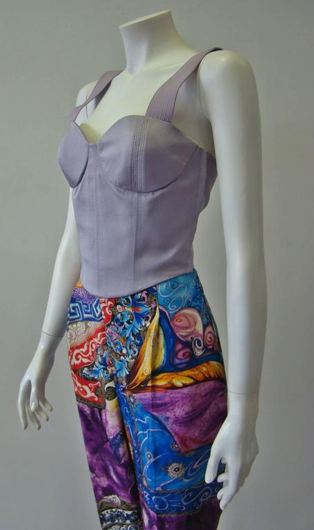 Gianni Versace Couture Lavender Top Bustier Fall 1992 In New Never_worn Condition For Sale In Athens, Agia Paraskevi