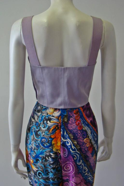 Women's Gianni Versace Couture Lavender Top Bustier Fall 1992 For Sale