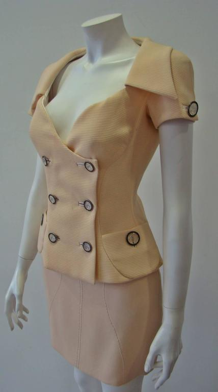 Gianni Versace Couture Double Breasted Jacket Spring 1995 In New Never_worn Condition For Sale In Athens, Agia Paraskevi