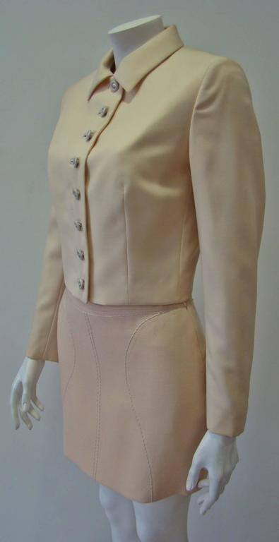 Gianni Versace Couture Cool Wool Creme Short Jacket In New Never_worn Condition For Sale In Athens, Agia Paraskevi