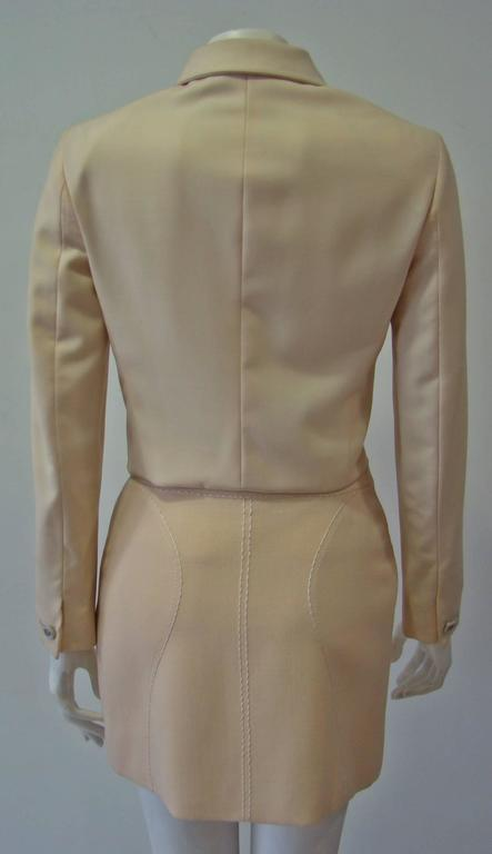 Women's Gianni Versace Couture Cool Wool Creme Short Jacket For Sale