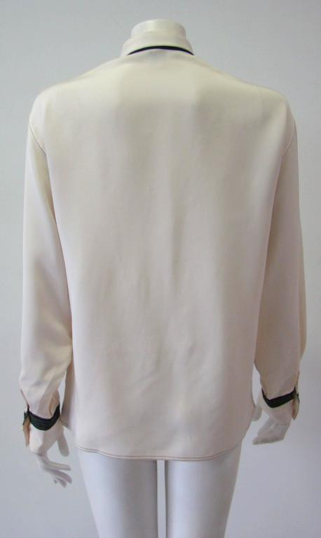 Gianni Versace Couture Creme Silk Shirt 6