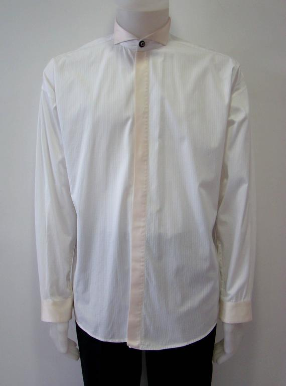 Gianni versace tuxedo evening shirt fall 1990 for sale at for Tuxedo shirt covered placket