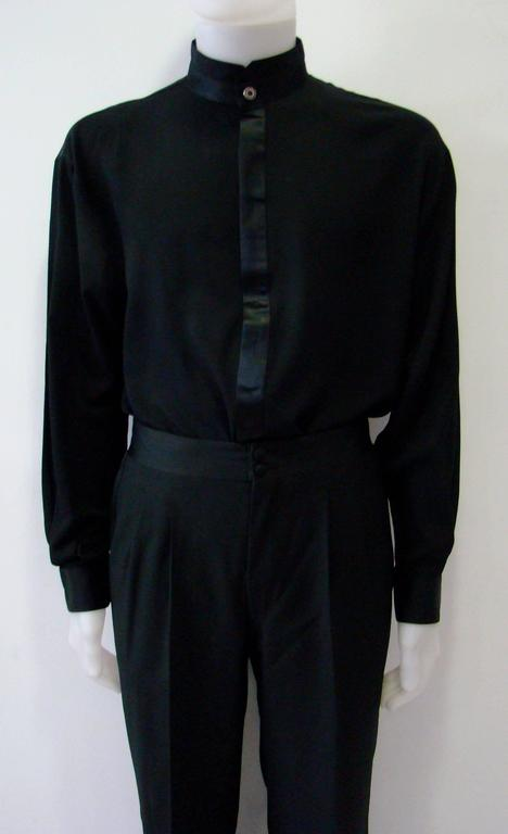 Istante by gianni versace tuxedo evening shirt for sale at for Tuxedo shirt covered placket