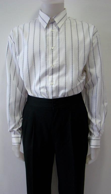 Gianni Versace Striped With Initials Printed Shirt 2
