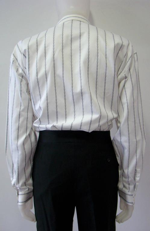 Gianni Versace Striped With Initials Printed Shirt 5