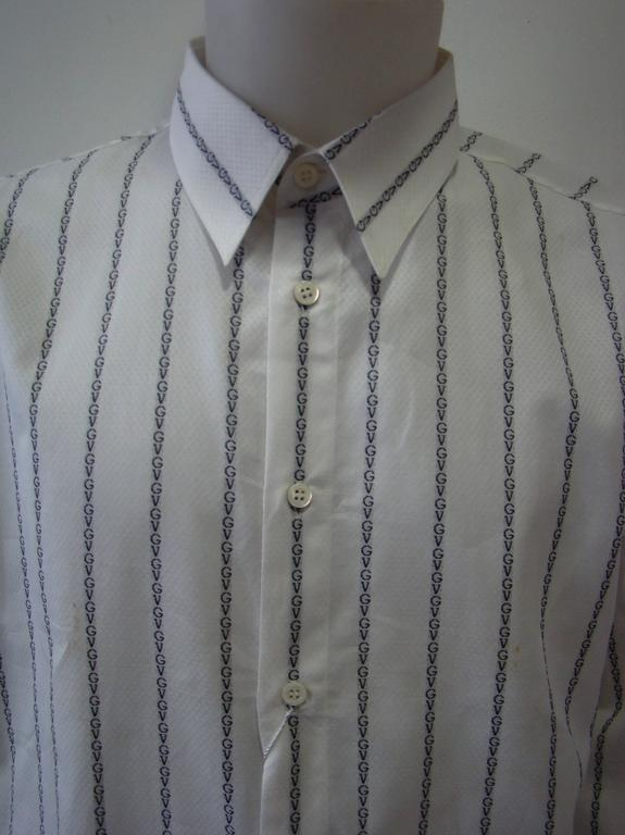 Gianni Versace Striped With Initials Printed Shirt 3