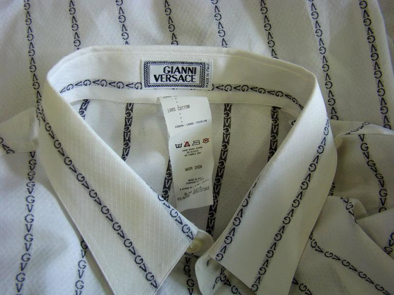 Gianni Versace Striped With Initials Printed Shirt 6