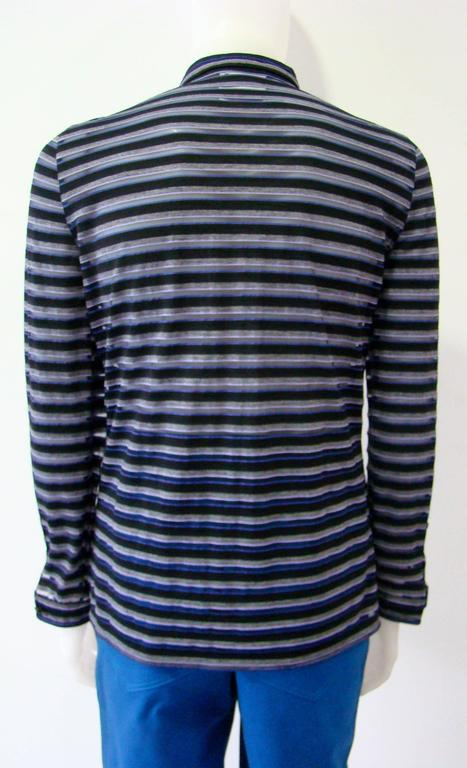 Gianni Versace Striped Sheer Shirt Fall 1997 4