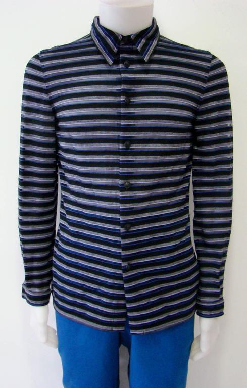 Gianni Versace Striped Sheer Shirt Fall 1997 2