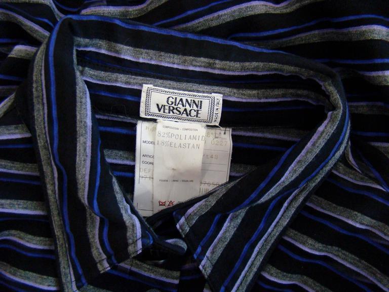 Gianni Versace Striped Sheer Shirt Fall 1997 5