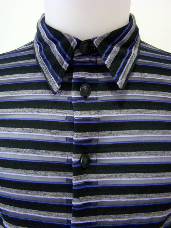 Gianni Versace Striped Sheer Shirt Fall 1997 3