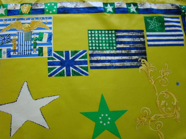 Atelier Versace Flags Printed Silk Scarf 3
