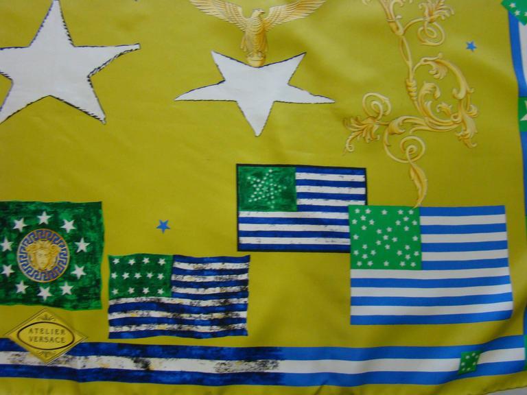 Atelier Versace Flags Printed Silk Scarf 5