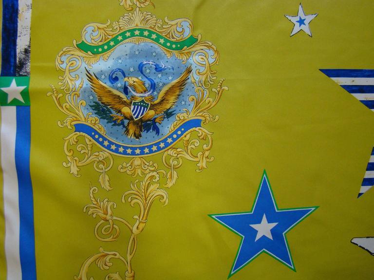 Atelier Versace Flags Printed Silk Scarf, 87cm x 87cm