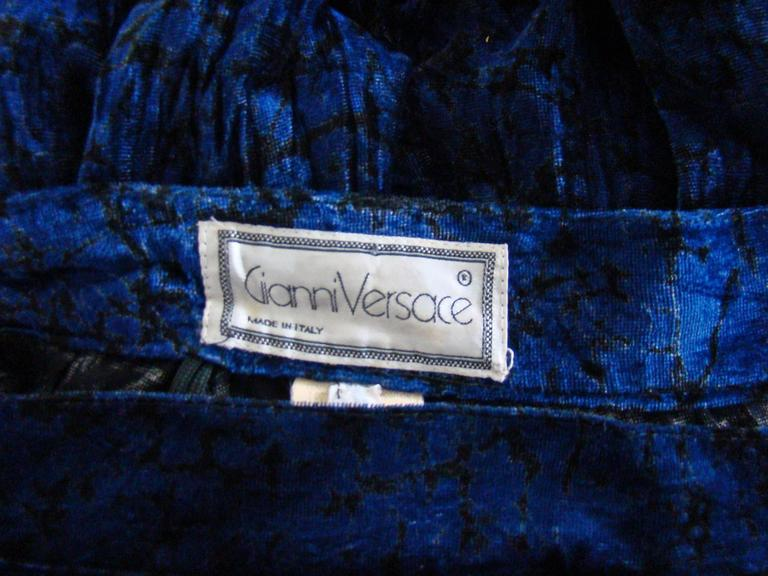 Gianni Versace Crushed Velour Knickerbockers Fall 1988 For Sale 2