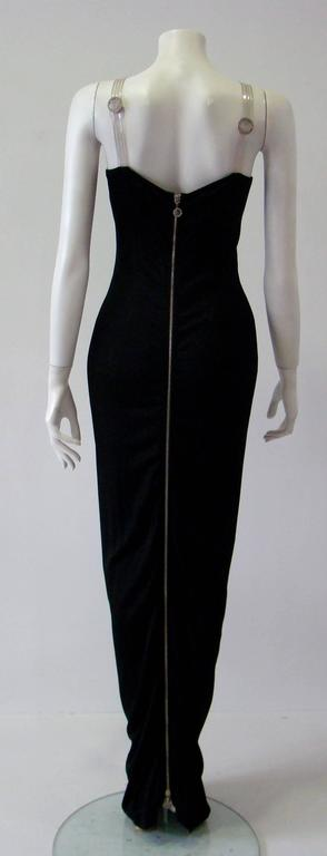 Women's Gianni Versace Versatile Bodycon Stretch Ruched Evening Dress For Sale