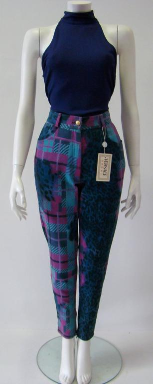 Gianni Versace Sport Printed Jeans For Sale 1