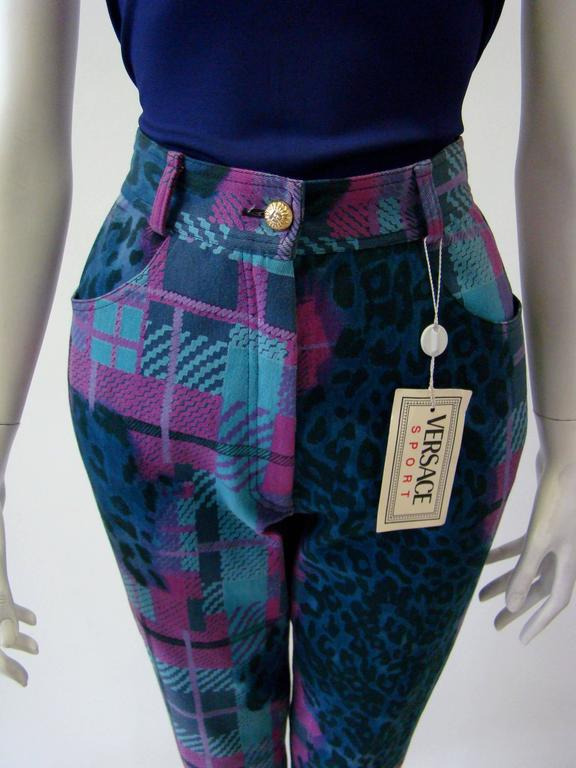 Gianni Versace Sport Printed Jeans In Excellent Condition For Sale In Athens, GR