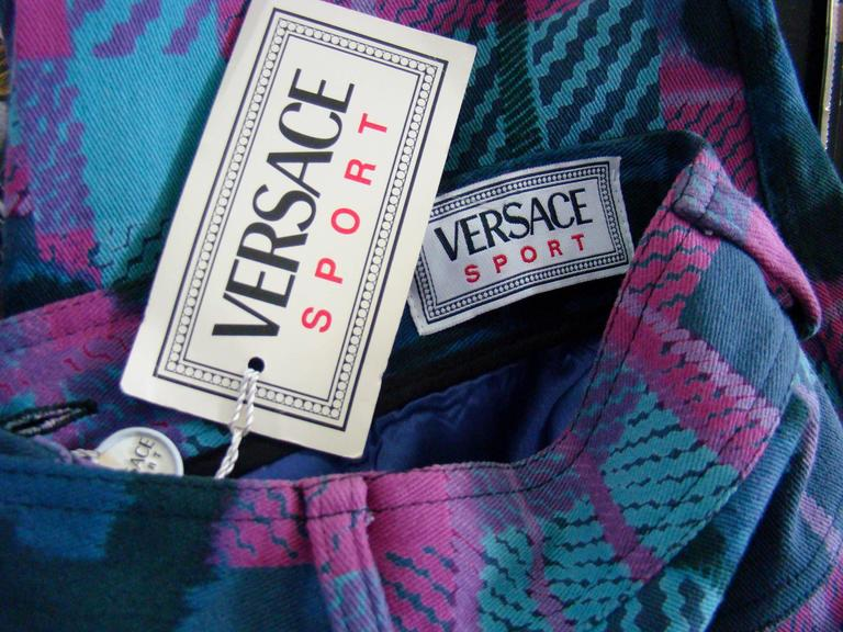 Gianni Versace Sport Printed Jeans For Sale 3