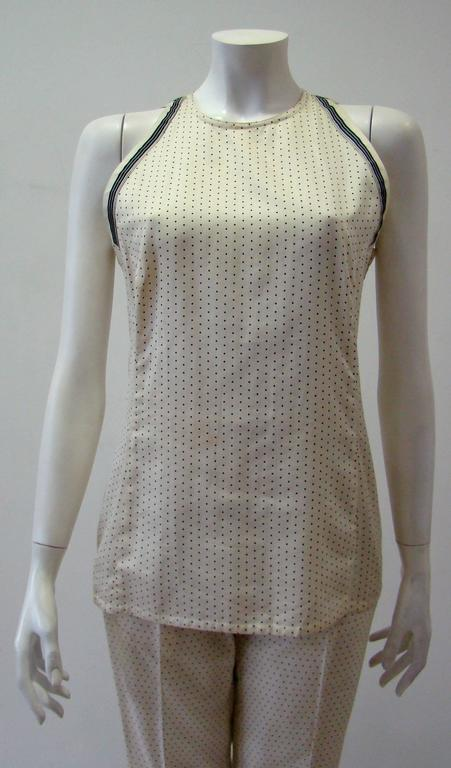 Early Gianni Versace Polka Dot Cotton Top Blouse Spring 1988 2