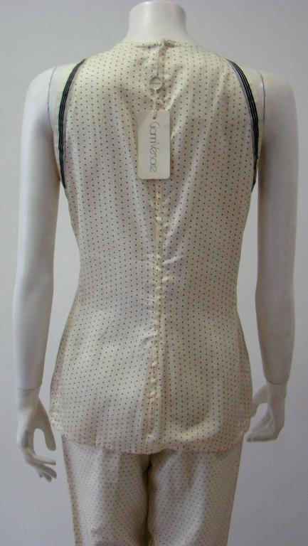Early Gianni Versace Polka Dot Cotton Top Blouse Spring 1988 5