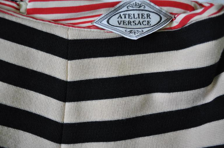 Women's Very Important Atelier Versace Nautical Striped Shorts For Sale