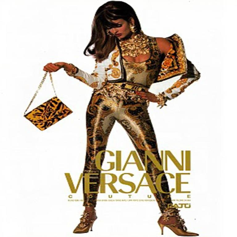 Iconic Gianni Versace Couture Baroque Printed Evening Leggings 4