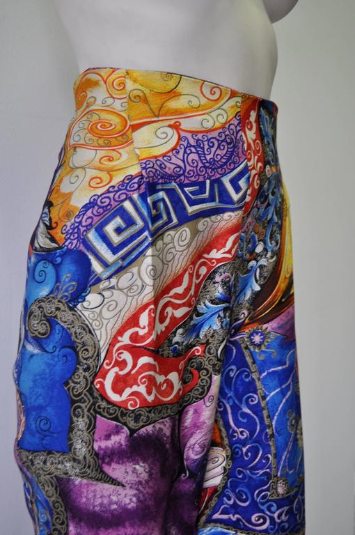 Rare Atelier Versace Printed Pants In New never worn Condition For Sale In Athens, GR