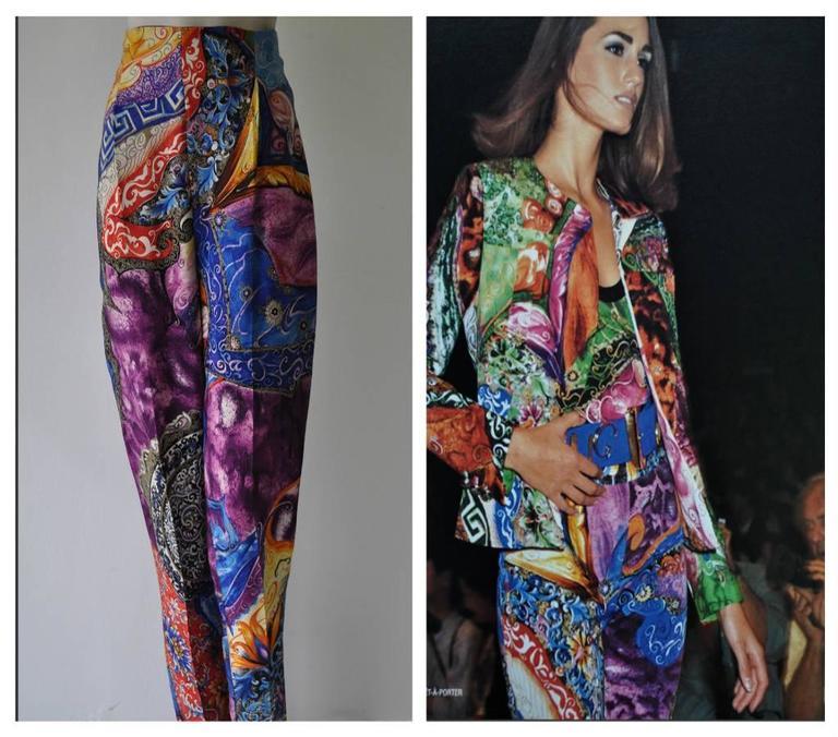 Women's Rare Atelier Versace Printed Pants For Sale