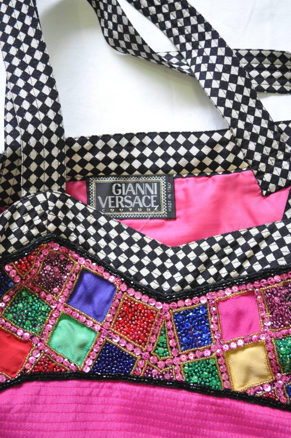 Gianni versace couture hand embroidered silk beaded