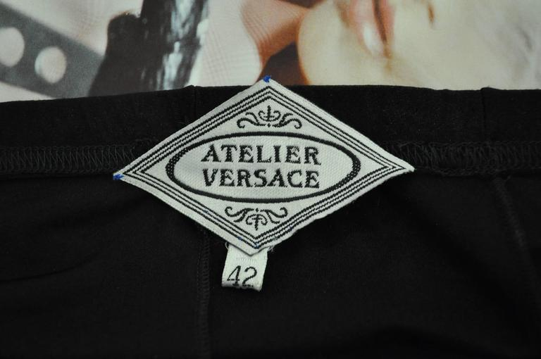 One of a Kind Atelier Versace Punk Sheer Silk Lace Leggings 5