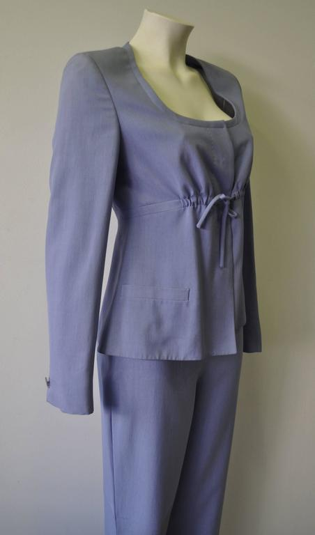 Gray Gianni Versace Couture Silk Pantsuit For Sale