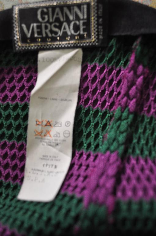 Rare Gianni Versace Couture Striped Knit Strapless Ensemble 5