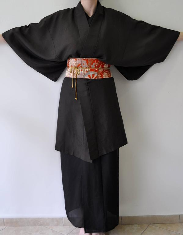 Authentic Hand Made Japanese Kimono from Tokyo In Excellent Condition For Sale In Athens, GR