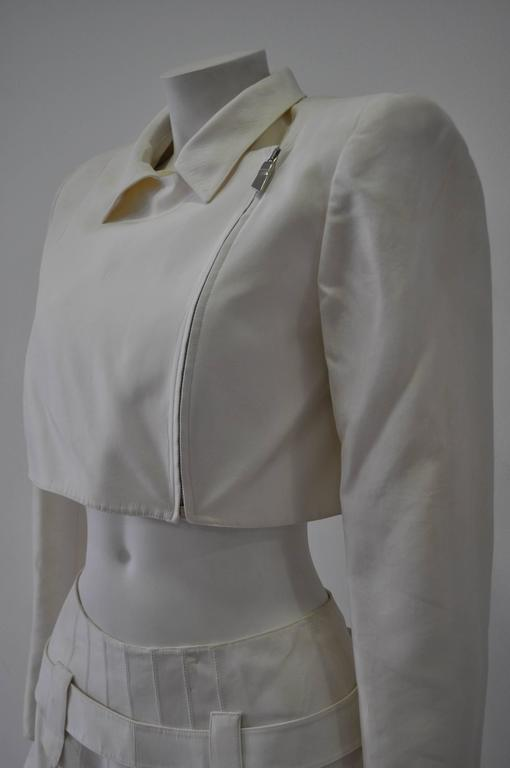 Very Rare Claude Montana Zip Space Age Inspired Skirt Suit In New never worn Condition For Sale In Athens, GR