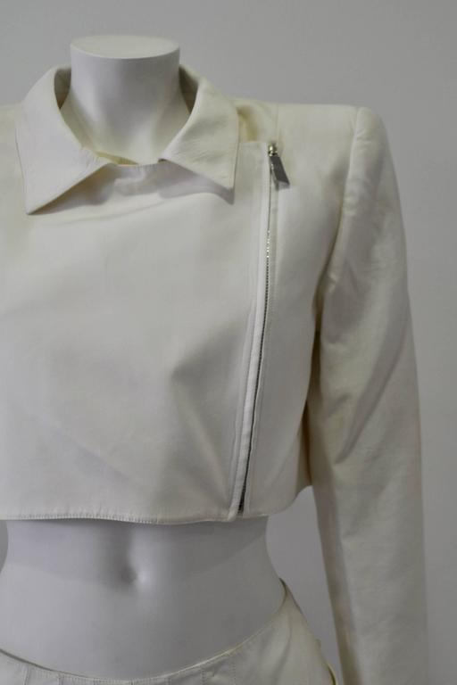 Women's Very Rare Claude Montana Zip Space Age Inspired Skirt Suit For Sale