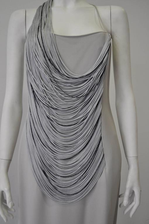 Luxurious Angelo Mozzillo Multistrand Chord Maxi Dress In Excellent Condition For Sale In Athens, Agia Paraskevi