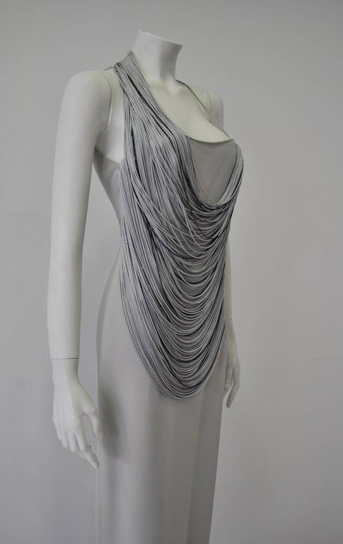 Luxurious Angelo Mozzillo Multistrand Chord Maxi Dress 4