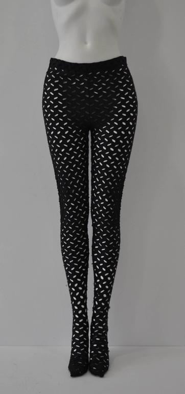 Iconic Gianni Versace Couture Punk Cut-Out Leggings, Notorious Punk Collection Spring 1994