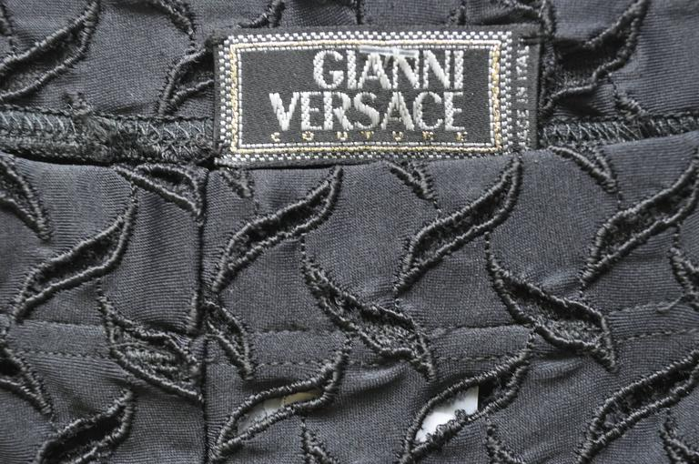 Women's Iconic Gianni Versace Couture Punk Cut-Out Leggings For Sale