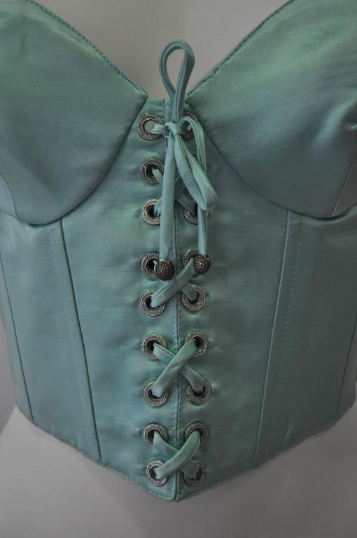 Iconic Gianni Versace Istante Mint Green Bustier 3